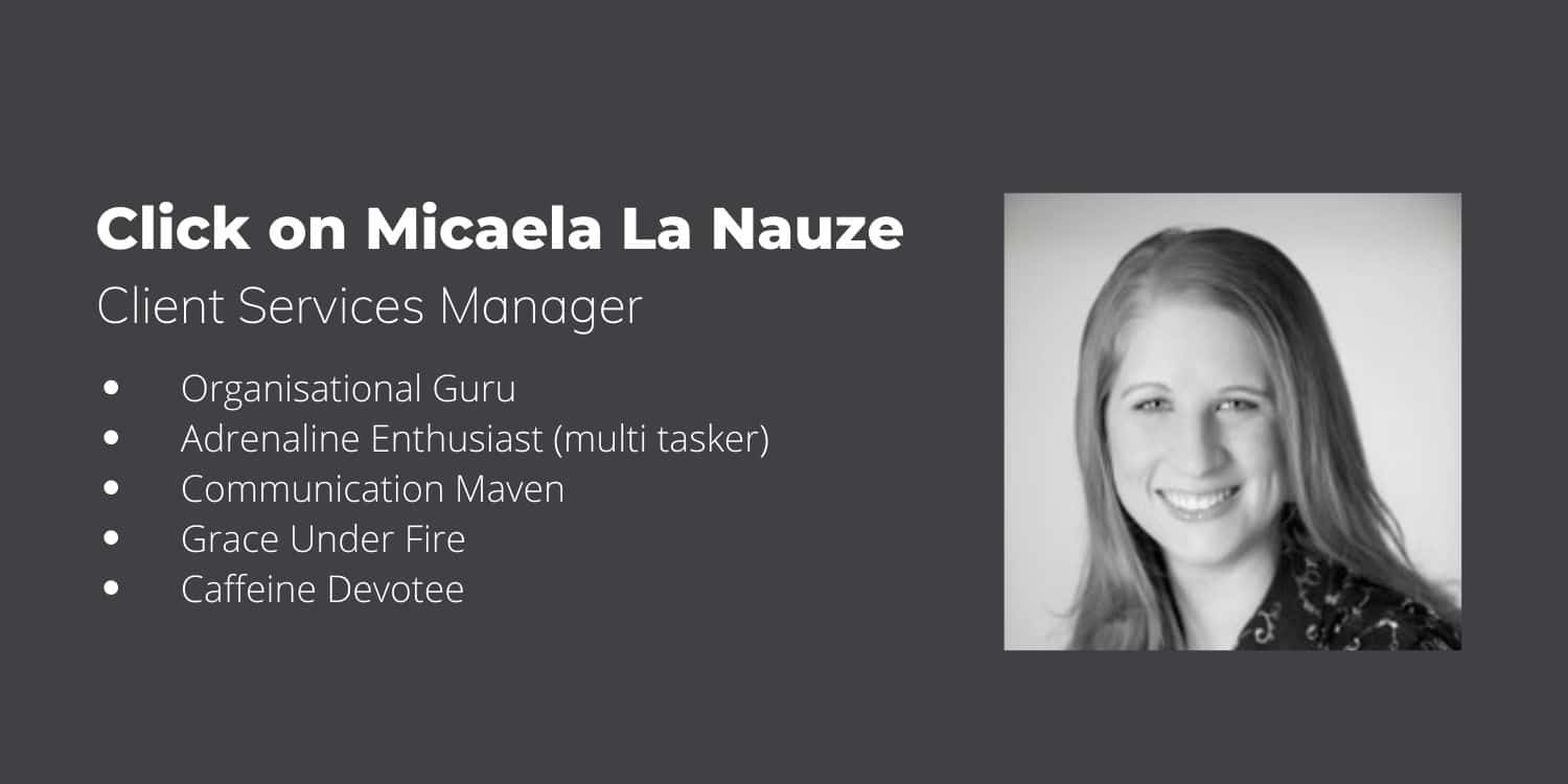 Meet Our Client Services Manager Micaela